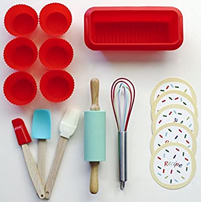 Handstand Kitchen 17-piece Introduction to Baking Set for Kids