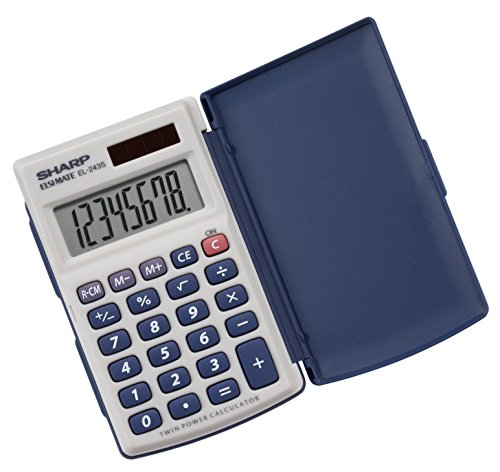 Sharp Electronics EL243SB 8-Digit Twin Powered Calculator