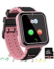 Smooce Smartwatch para Niños, Reloj Inteligente Niños Teléfono con 1.54 Pulgadas Pantalla Táctil, MP3 Música,Llamada SOS, Juego, Cámara, Linterna, Alarma Reloj Regalo de Cumpleaños Tarjeta SD de 1GB incluida