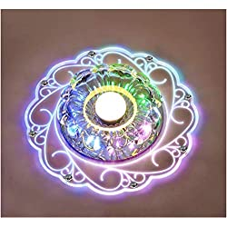 Crystal Ceiling Lamp - SENYANG LED Ceiling Light Circular Living Room Crystal Lamp Living Room Ceiling Light Rotunda Light Main Bedroom Warm Light (5W)