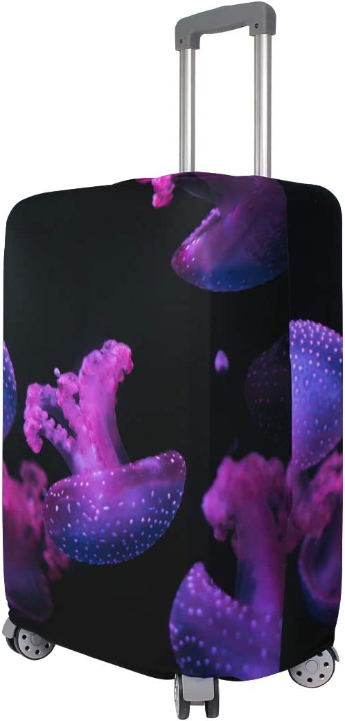 ANINILY Pink Jellyfish Travel DIY Luggage Cover Suitcase Protector Baggage Fits S18-20 in