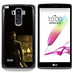 "Qstar Arte & diseño plástico duro Fundas Cover Cubre Hard Case Cover para LG G4 Stylus H540 (DeusEX Cyborg"")"
