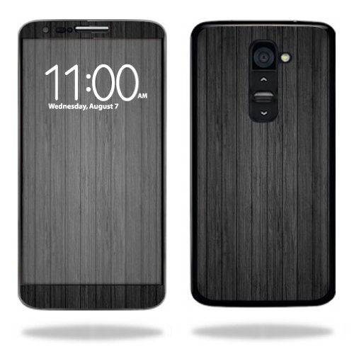 Mightyskins Protective Vinyl Skin Decal Cover for LG G2 T-Mobile wrap sticker skins Black Wood