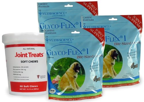 3 PACK Glyco Flex I (360 SOFT CHEWS) FREE Joint Treats, My Pet Supplies