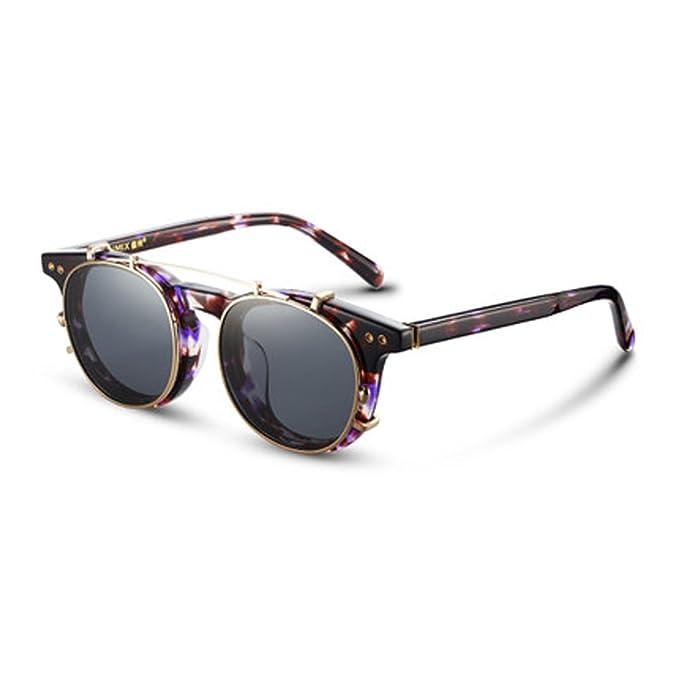 Retro lente polarizante extraíble gafas de sol de los ...