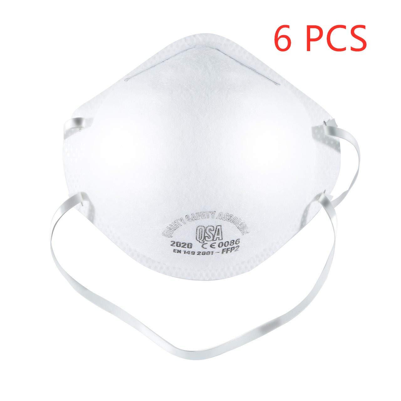 Antipolución FFP2 Máscara N95 máscara N99, con válvula de capas Filtro FFP2 98% Bacterias Anti PM2.5 Neumonía Protección contra la gripe Máscara de con
