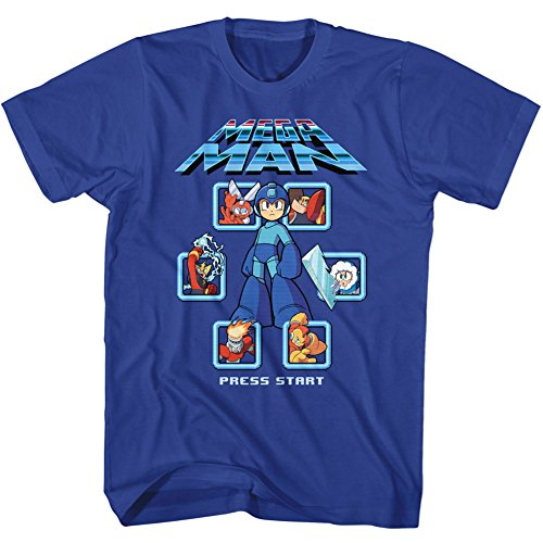 Mega Man Select Screen T-shirt for Adults