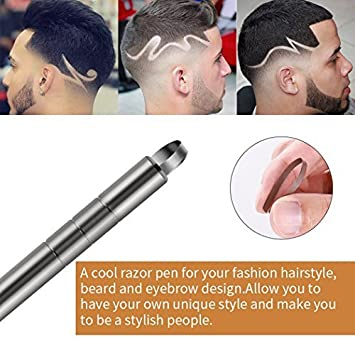 New Fashion Hair Carving Pen Styling Man Refined Steel Razor Salon Barber