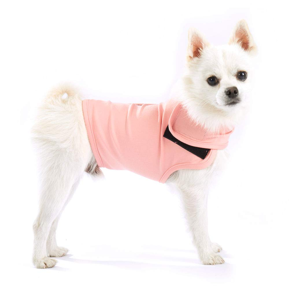 Furubaby Anxiety Dog Coat a Shirt Calm Down Dog Jacket for xs Small Medium Large XL Dogs | Solid Color Blue Gray Green Pink Thunder Dog Wrap(Pink)