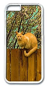 iPhone 6 4.7inch Cases & Covers Cat With Long Tail Sitting On A Fence Custom PC Hard Case Cover for iPhone 6 4.7inch Transparent