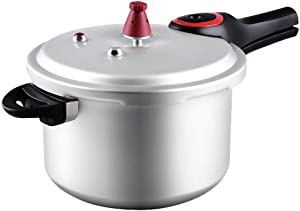 Household Gas Aluminum Alloy Pressure Cooker Safety Explosion-proof Pressure Cooker Open Flame Induction Cooker Universal (Color : 7.5L)