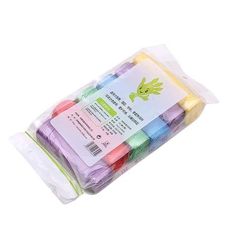 Ogquaton 6 Rollos de Bolsas de Basura de Colores Gruesos de ...