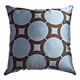 Softline Home Fashions ELECFBLCHO18KEP Element Circle Throw Pillow, French Blue