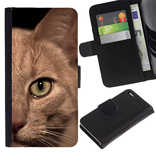TaiTech / Housse Coque étui Etui en cuir - Burmese American Shorthair British Cat - Apple Iphone 4 / 4S