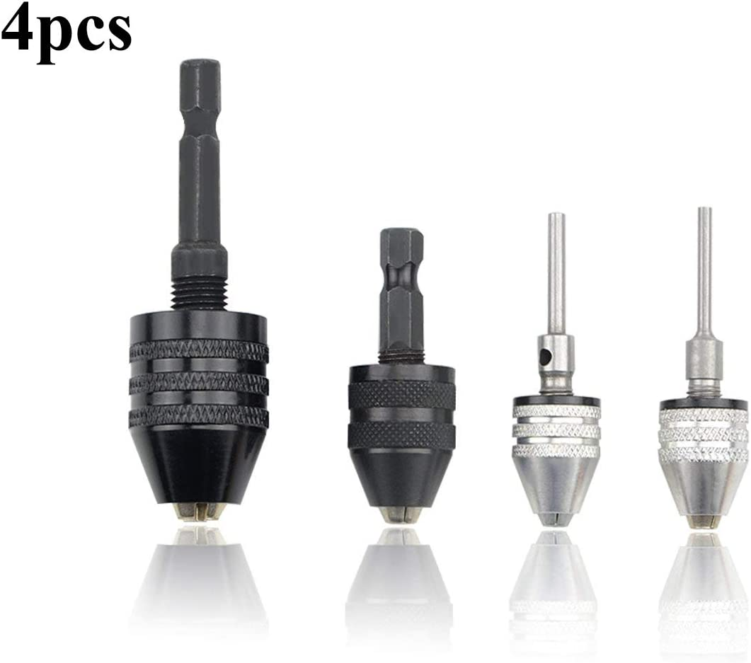 Small Drill Chuck 1 pc Adapter Bit Converter Hex Hexagonal Shank Aluminum Alloy