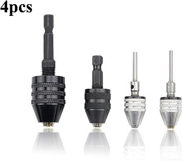 """0.3mm-3.6mm Keyless Drills Chuck Screwdriver Driver Adaptor 1//4/"""" Shank Drill"""