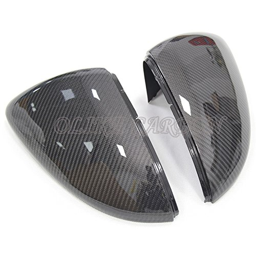 Volkswagen Golf Mirror Side - Replacement Carbon Fiber Rear Side Mirror Cover For VW Volkswagen Golf 7 MK7 MK7.5 Golf R Golf Gti MK7 2013-2018