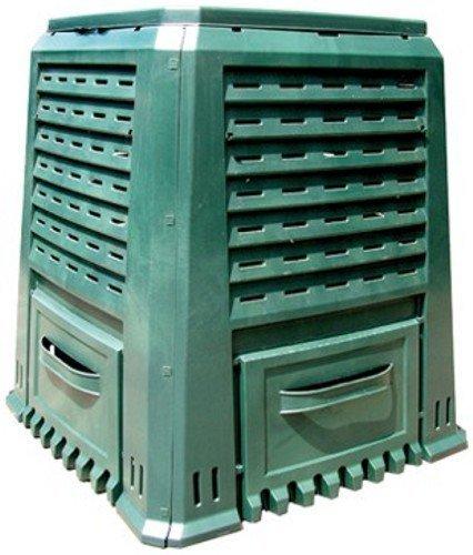 Komposter Polypropylen Einfach Lt 400 cm 80X80Xh 91 Gärtnern Gemüsegarten