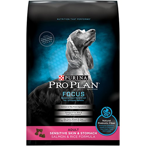 Purina Pro Plan Sensitive Stomach Dry Dog Food; FOCUS Sensitive Skin & Stomach Salmon & Rice Formula - 5 lb. Bag