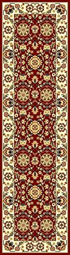 KAS Oriental Rugs Cambridge Collection Floral Agra Runner, 2'2