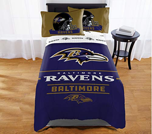 "Northwest NFL Baltimore Ravens ""Monument"" Twin/Full Comforter #348340136"