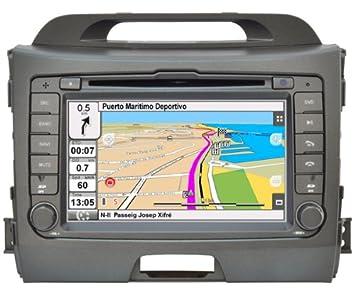 """2DIN 7"""" KIA SPORTAGE 2010-2012: NAVEGADOR GPS, MANOS LIBRES BLUETOOTH,"""