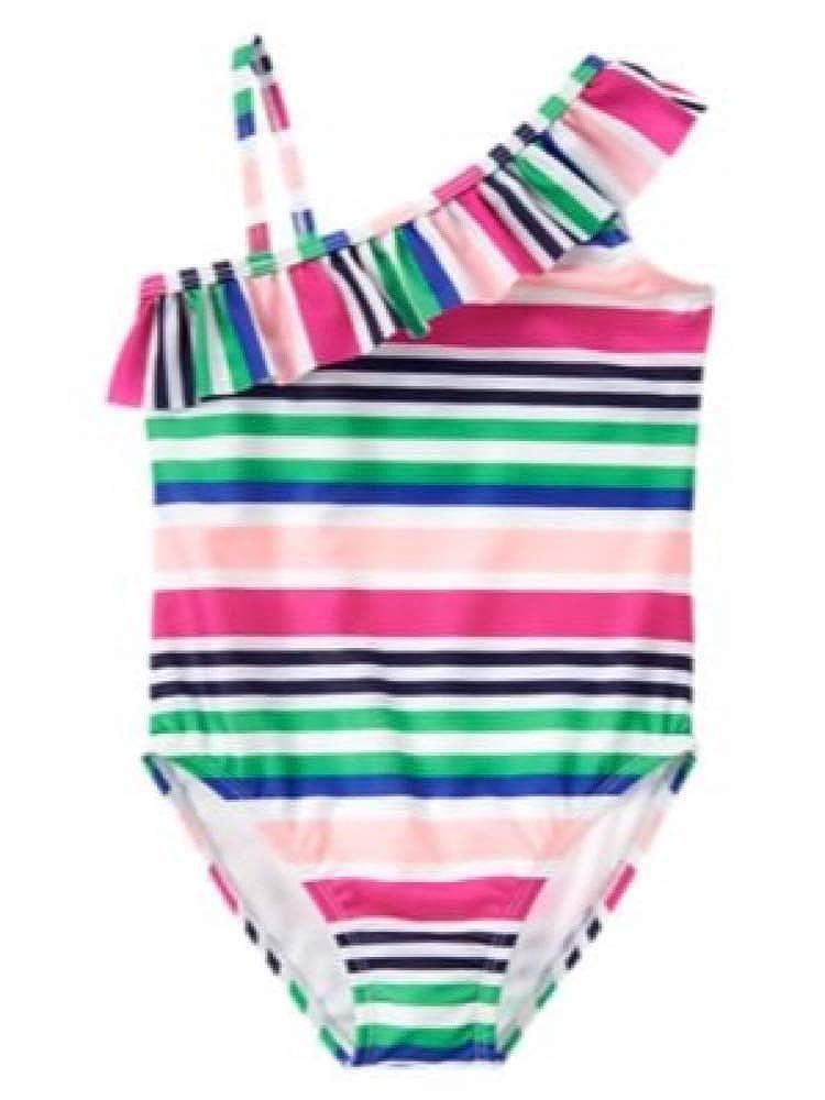 Gymboree 1-Piece Stripe Ruffle Swimsuit