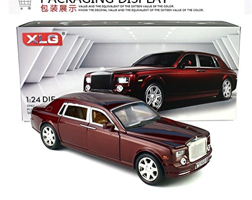 1:24 Rolls-Royce Phantom Diecast Sound & Light & Pull Back Model Toy Car Wine Red New in Box (Rolls Royce Model compare prices)