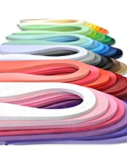Juya Papier Quilling Set Jusqu'à 42 couleurs, une couleur et 100 bandes par paquet, 3/5/7 / 10mm Largeur disponible