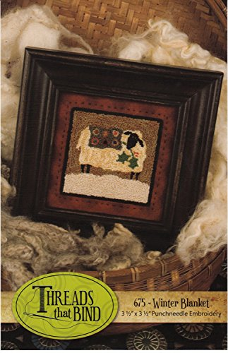 Winter Blanket 675 Punch Needle Pattern Threads That Bind Sheep Christmas Punchneedle