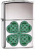 Lucky Clover Celtic Irish Shamrock Zippo Lighter