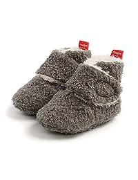 Unisex-Baby Fleece Booties Cozy Baby Bootie Socks Non Skid Gripper Bottom