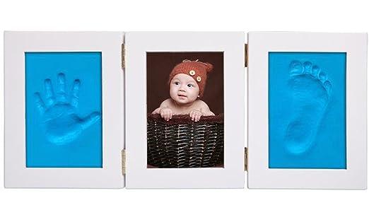 Leisial Marco de Foto Impresión Handprint y Huella Bebé Kit de ...