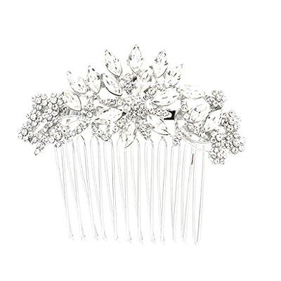 SEPBRDIALS Rhinestone Crystal Wedding Bridal Hair Side Comb Pins Hair Accessories Jewelry FA5071