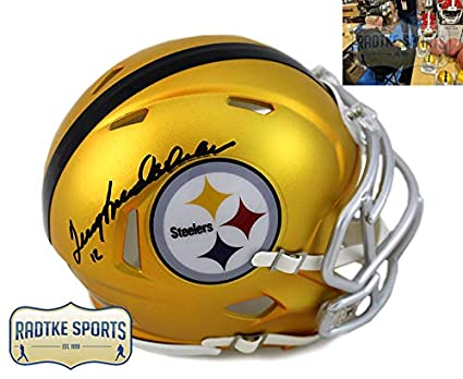 93cb6b931 Terry Bradshaw Autographed Signed Pittsburgh Steelers Riddell Blaze NFL  Mini Helmet