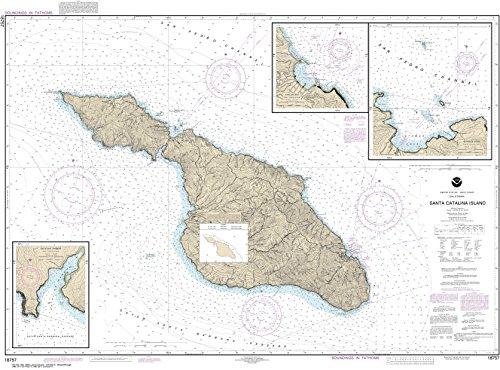 (MapHouse NOAA Chart 18757 Santa Catalina Island;Avalon Bay;Catalina Harbor;Isthmus Cove: 33.04