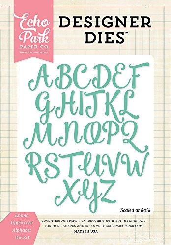 Uppercase Alphabet Dies - Echo Park Paper Company EPPDIE441 Emma Uppercase Alphabet Dies