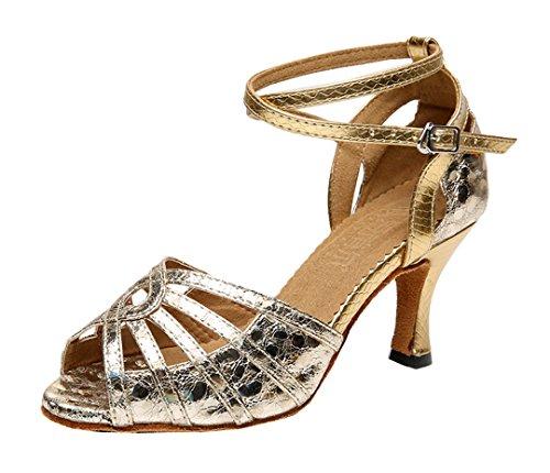 TDA - Zapatos con tacón mujer dorado