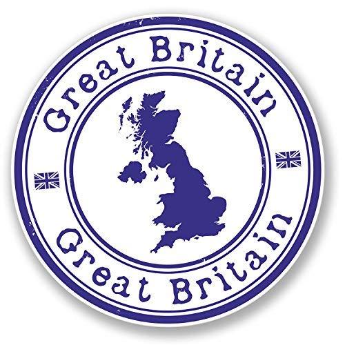 hiusan 2 x GB Great Britain UK Vinyl Stickers Decals Travel Luggage Tag Lables Car Window Laptop Ipad Envenlop Stickers (10cm x -