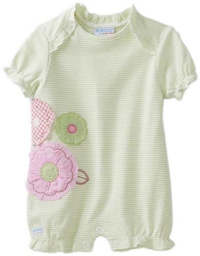 UPC 730838487680, Robeez Baby-girls Newborn Tea and Cupcakes Romper, Light Green, 3 Months