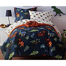 Twin size, 6 Piece Bed in a Bag with lots of Dinosaurs.