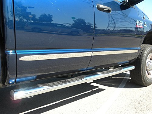 Made In USA! Works With 07-13 Chevy Silverado/GMC Sierra Crew Cab Long Bed Body Side Molding Trim 1.5' Wide 8PC MaxMate