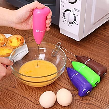 HaRvic Stainless Steel Mini Electric Handheld Portable Hand Blender/Stirrer/Egg Beater Machine for Kitchen (Multicolour)