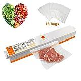 Vacuum Sealer,Automatic Handheld Food Savers Vacuum Machine with Starter Kit,15pcs Free Vacuum Bags for Food Preservation,110v US Plug