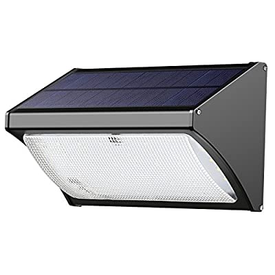 ENGREPO 56 LED 1000 Lumens Solar Lights Outdoor uses Radar Sensor Technology, Very Sensitive, Applicable to Driveway. Aluminum Alloy for House, Wireless Waterproof Security Lights