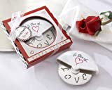 ''A Slice of Love'' Stainless-Steel Pizza Cutter in Miniature Pizza Box - Baby Shower Gifts & Wedding Favors (Set of 48)