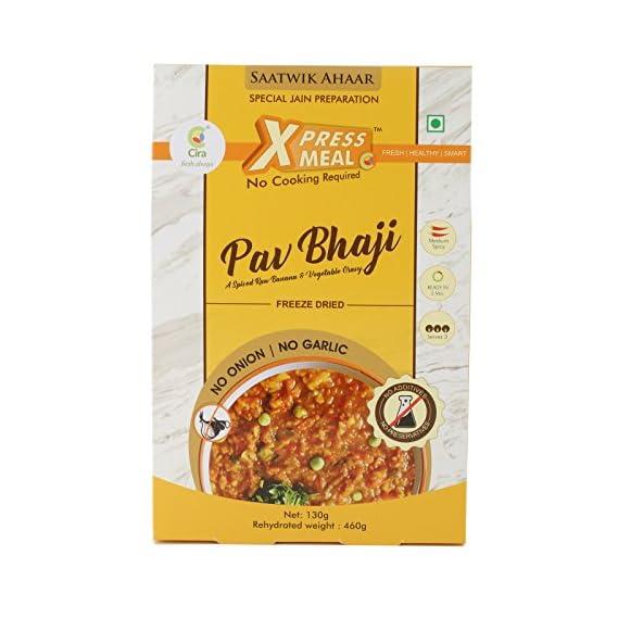 CIRA READY TO EAT JAIN PAV BHAJI XPRESS MEAL130 GMS FAMILY PACK