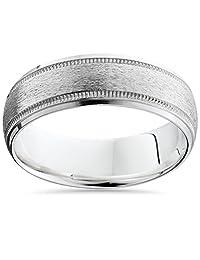 Mens 7mm 950 Palladium Satin Wedding Ring New Band
