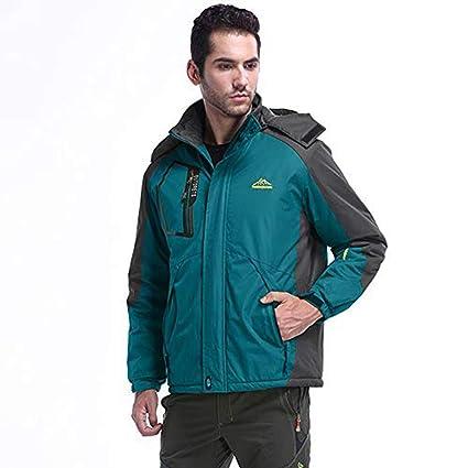 Malloom Hombre Al Aire Libre Montaña Impermeable Windbreaker Lana Nieve del Esquí Chaqueta con Capucha Ropa