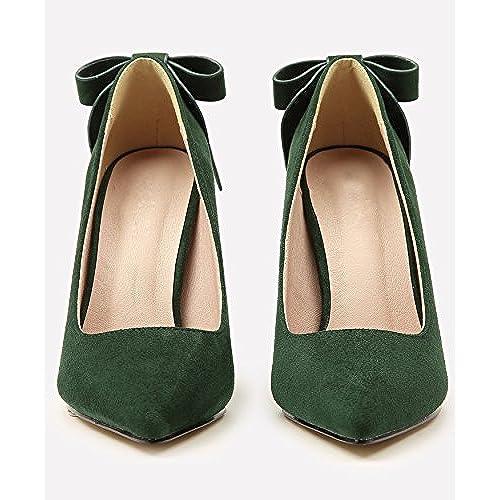 331a8d2371878 30% de descuento Boda Zapatos Para Mujer Ante Tacones altos Dulce Bowknot  Stiletto Fiesta Zapatos